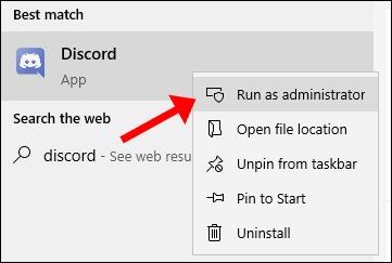 discord run as admin