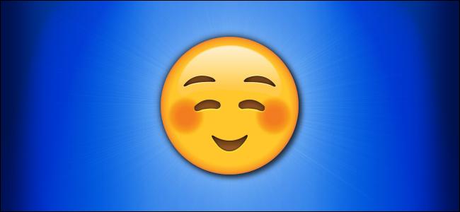 Apple Blush Smiley Emoji Hero