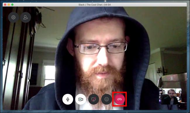 Hang up a Slack video call