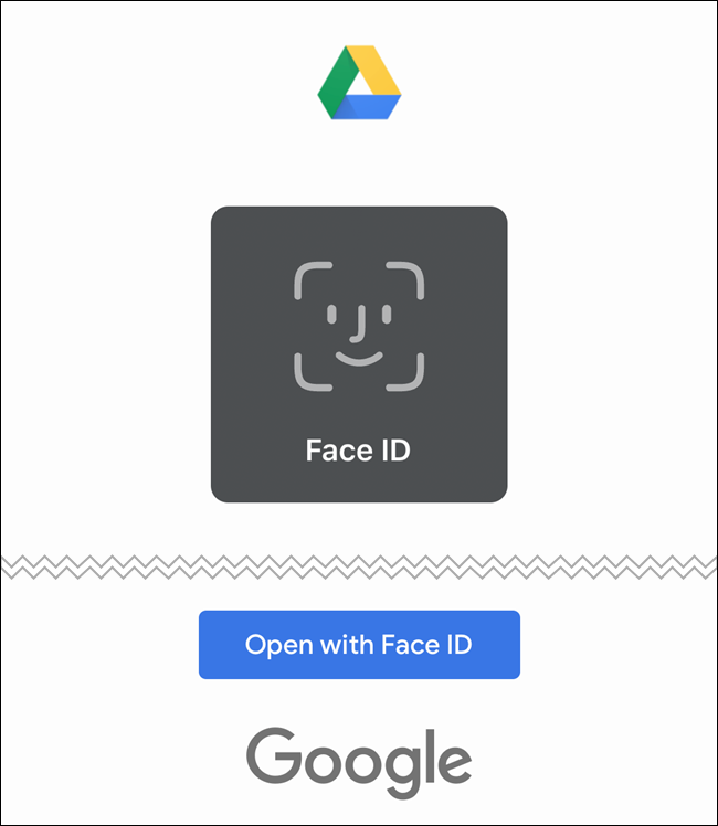Google Drive ahora usará Face ID o Touch ID para autenticarse