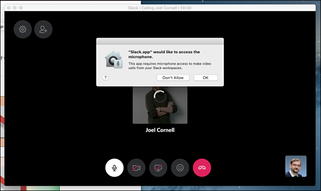 Grant Microphone Access in Slack for Video Chat