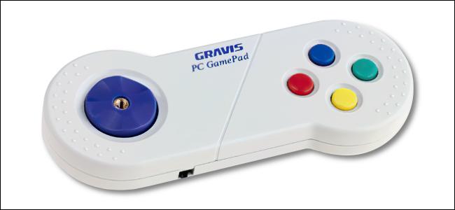 The Gravis PC Gamepad.