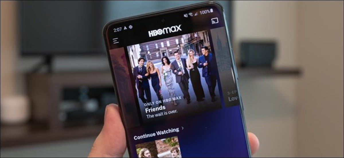 HBO Max Android app on the Samsung Galaxy S20 Ultra