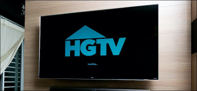 HGTV logo on a television