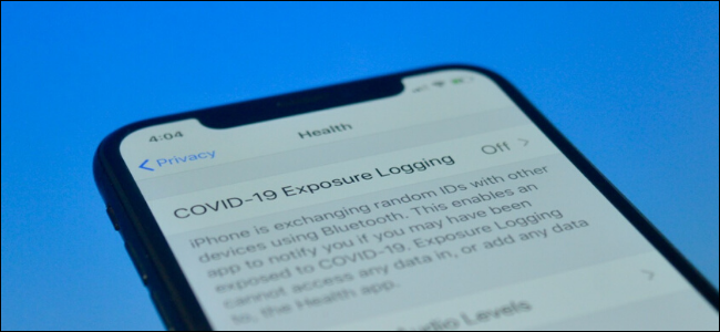 iPhone user checking COVID-19 Expsoure Notifications page to see how it works