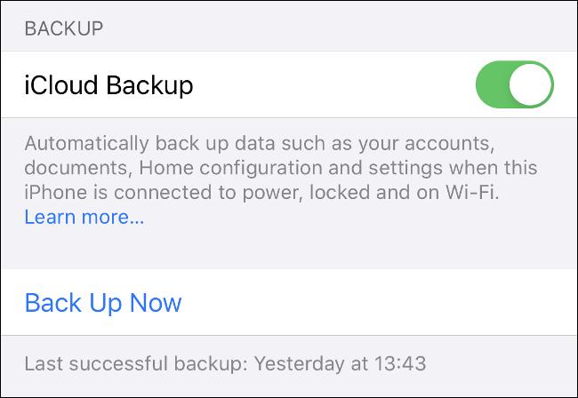 """Activa la opción """"Copia de seguridad de iCloud"""" en """"Configuración"""" de iOS."""