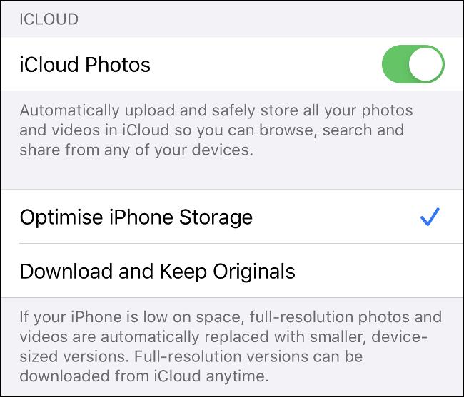 """Activa la opción """"Fotos de iCloud"""" en iOS,"""