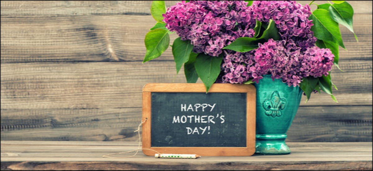 Happy Mother's Day on Chalkboard