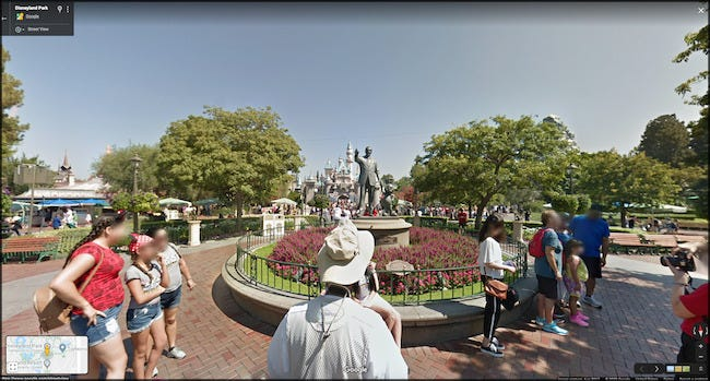 Viajando virtualmente pela Disney World no Google Maps