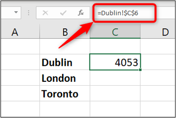 Link to the source data in the Formula Bar