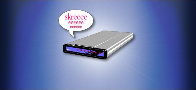 A screeching dial-up modem cartoon