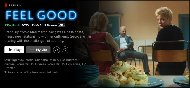 """The """"Feel Good"""" watch page on Netflix."""