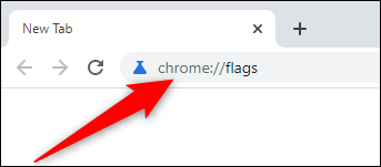 Open Chrome and visit the flags menu