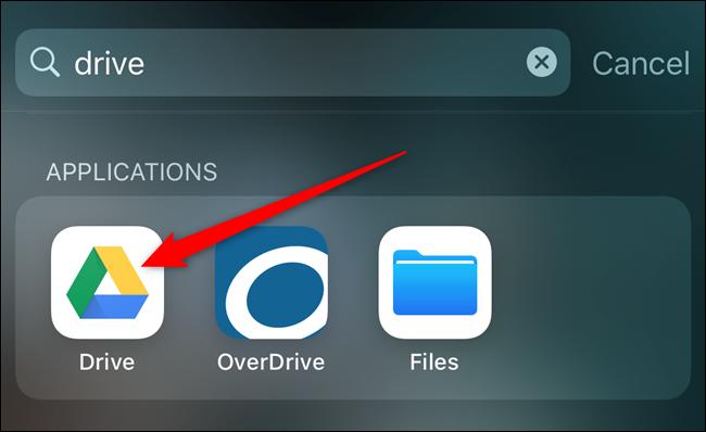 Open the Google Drive app