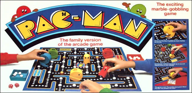 Milton Bradley Pac-Man Boardgame Box Cover
