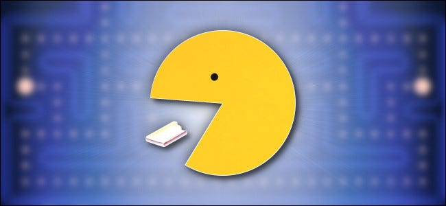 Pac-Man eating a pellet.