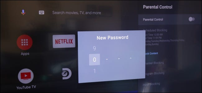Parental Controls Set Password