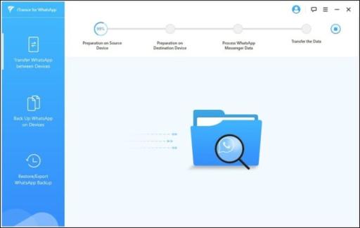 iTransor progress page