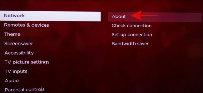 Roku About Settings