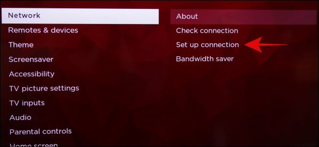 Roku Network Set Up Connection