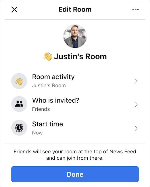 Set up your Facebook Messenger room