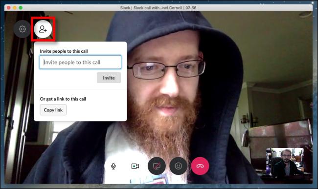 Slack video chat invite participants
