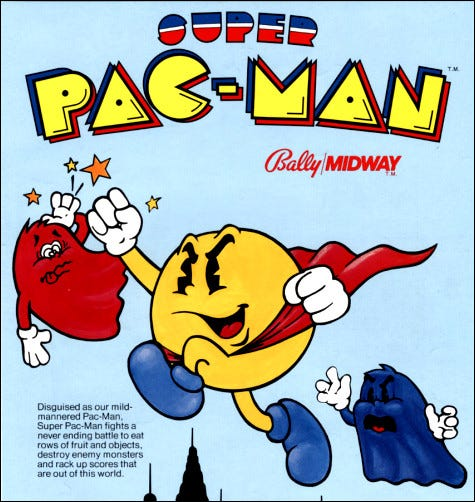 """Super Pac-Man"" arcade flyer."