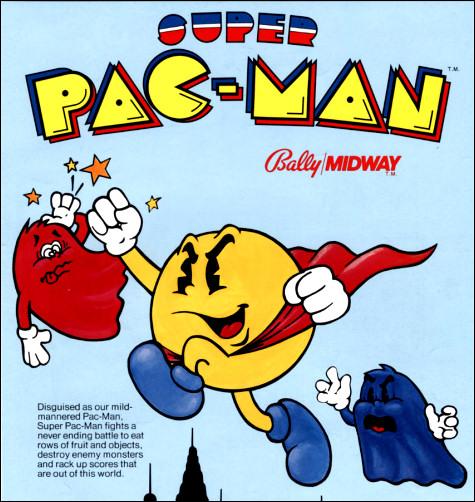 """Super Pac-Man"" arcade flyer."