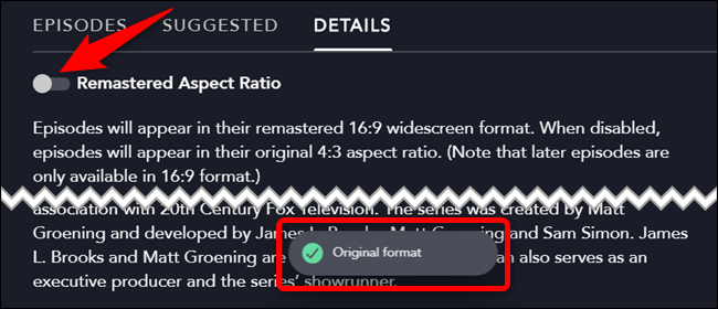 "Toggle off ""Remastered Aspect Ratio"""