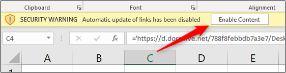 Enable content to update links