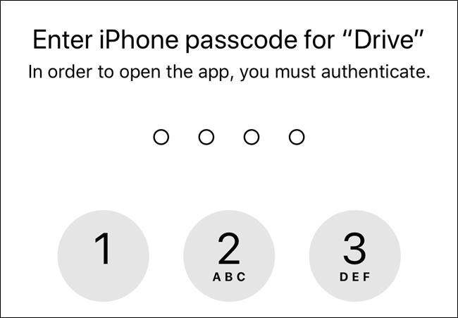 Sin permisos, Google Drive usará el código de acceso de la pantalla de bloqueo de su dispositivo