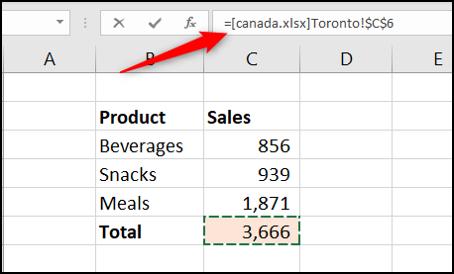 Link to another Excel workbook