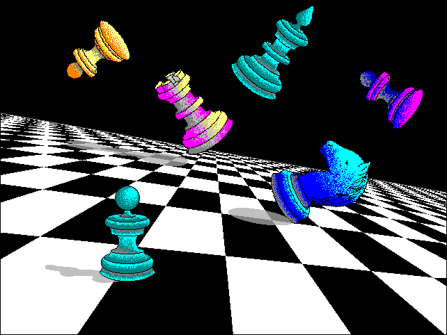 The CHESS.BMP Wallpaper Included in Windows 3.0