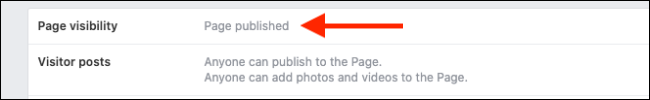Click on Page Visibility