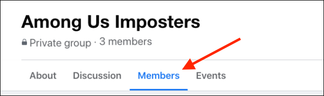 Go to the Members tab in Facebook Group