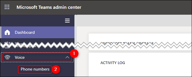 Microsoft Teams Admin Center Voice Phone Numbers