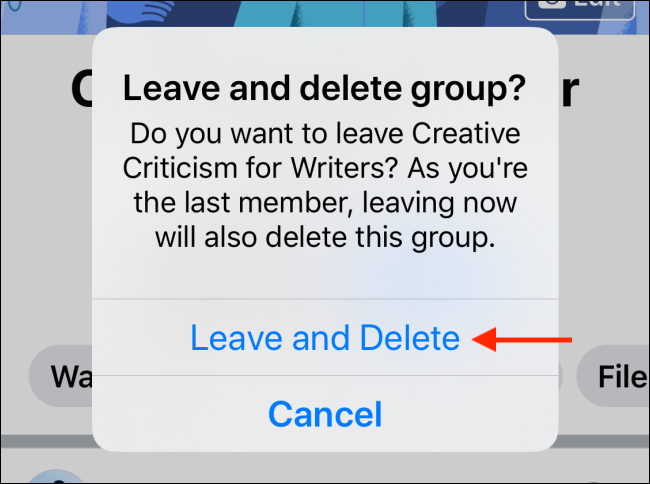 Tap Leave and Delete