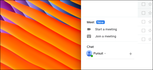 User removing the Google Meet section in Gmail sidebar