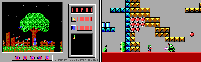 """Scenes from the """"Captain Comic"""" and """"Commander Keen"""" games."""