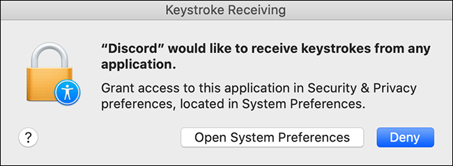 mac discord keystroke permissions