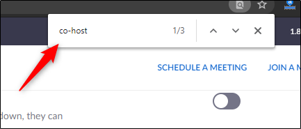 search for co-host in the search box