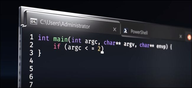 The Windows Terminal as depicted in Microsoft's announcement video.