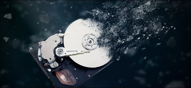 A disintegrating hard drive.