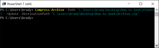 Update an already existing zip file with the use of the -Update parameter.