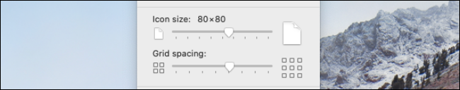 Change Icon size or grid spacing fo Mac desktop