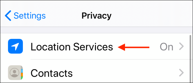 Choose Location Services
