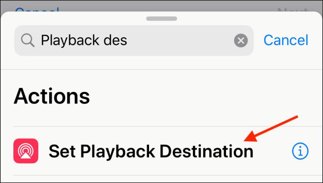 Choose Set Playback Destination