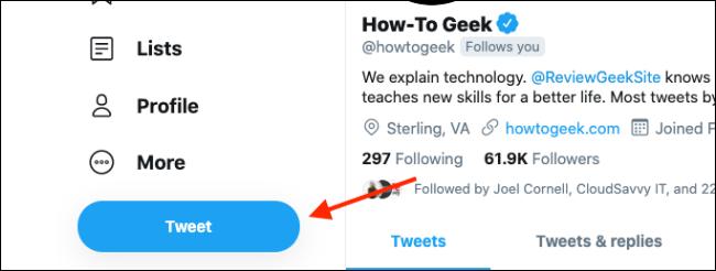 """Click """"Tweet."""""""