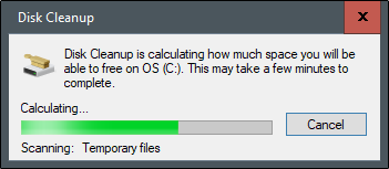 Disk cleanup calculation
