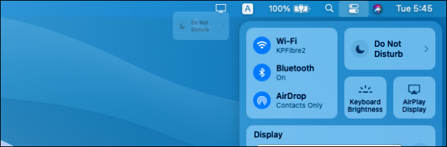 Adding shortcuts from the macOS Control Center to the menu bar.